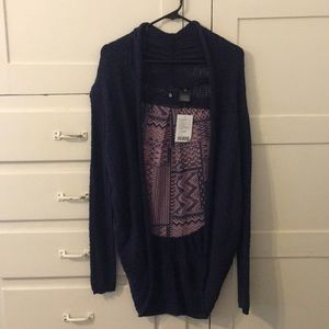 Anthropologie Knotted & Knotted Boho Cardigan, SzM